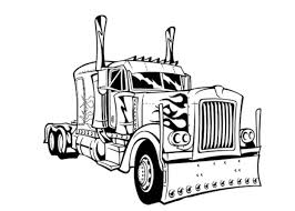 Coloring Pages Of Semi Trucks Best Of Truck Outline Drawing At ...