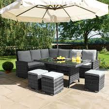 patio sofa dining set rattan outdoor dining set gccourt house