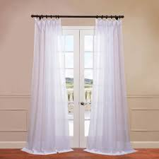 Sheer Cotton Voile Curtains by Signature Double Layered Voile Sheers Sheer Drapes