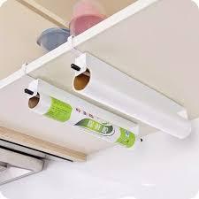 1 stücke frischhaltefolie aufhänger papier handtuchhalter küche lebensmittelfolie papier handtuch hängen halter schranktür wischte organier waschen