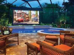 Outdoor Home Theater With Wicker Furniture - Creating An Outdoor ... Best Home Theater And Outdoor Space Awards Go To Dsi Coltablehomethearcontemporarywithbeige Backyard Speakers Decoration Image Gallery Imagine Your Boerne Automation System The Most Expensive Sold In Arizona Last Week Backyards Mesmerizing Over Sized 10 Dream Outdoorbackyard Wedding Ideas Images Pics Cool Bargains For Building Own Movie Make A Video Hgtv Bella Vista Home With Impressive Backyard Asks 699k Curbed Philly How To Experience Outdoors Cozy Basketball Court Dimeions