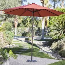 Solar Lighted Rectangular Patio Umbrella by Coral Coast 8 X 11 Ft Rectangular Aluminum Market Solar Lighted