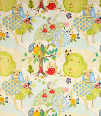 Woodland Friends Fabric in Summer Just Fabrics