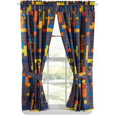 Walmart Better Homes And Gardens Sheer Curtains by Lego Movie Curtain Panels Set Of 2 Walmart Com