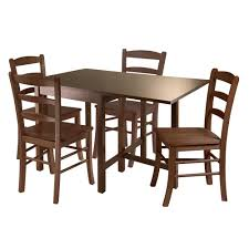 Amazon.com - Winsome Wood Lynden 5-Piece Dining Table With 4 Ladder ... Hans Olsens Super Spacesaving Ding Set For 4 Paya Buy Argos Home Nomad Space Saving Table And Chairs Spaceone Seater Dropleaf Room Sets Fniture Liberty Grey Gloss And Hygena Amparo Folding In Dy13 Forest 2000 Sale Small Spaces Creative Idea With Foldable For Modern Kitchen Navy Appealing Round Unvarnished Wooden Saver