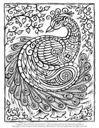 Zoom To Download The Peacock Adult Coloring