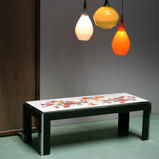 ceramic tile top coffee table from adri belgique for sale at pamono