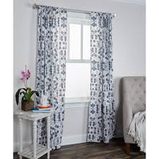 Tahari Home Curtains Navy by Bold Patterned Curtains