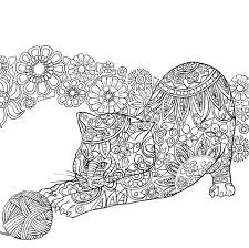 Cat Coloring Pages For Adults Free Books Doodle