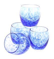 100 Poland Glass Cobalt Confetti Juice Set