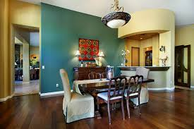 This Turquoise Accent Wall Really Makes Formal Dining Room In