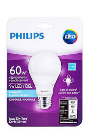 philips led 9w 60w a line a19 daylight 5000k the home