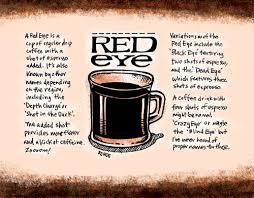 Coffee Calendar Red Eye Sketchtoon