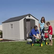 Shed Plans 8x12 Materials by Amazon Com Lifetime 6402 Outdoor Storage Shed 8 By 12 5 Feet 2