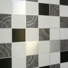 details zu küche badezimmer gepunktetes tapete schwarz weiß und silber kachel 2670