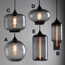 Pottery Barn Floor Lamps Ebay by Modern Industrial Smoky Grey Glass Shade Loft Cafe Pendant Light