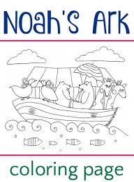 Noahs Ark Coloring Page Free Printable Sheet