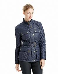 Lyst Michael michael kors Quilted Jacket with Belt in Blue