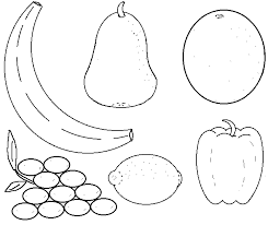 Full Image For Olivers Fruit Salad Colouring Sheets Coloring Fruits Pages Print