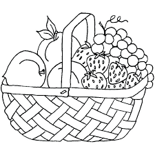 Apples In Basket Colouring Pages Line Drawings Cellarpaperco