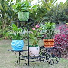 Buy Rustic Multi Layer Fashion Iron Flower Stand Balcony Indoor French Pot Holder Hanging Basket Rack In Cheap Price On Alibaba