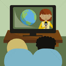Watching News Vector Image 1415123 StockUnlimited Beauteous Tv Clipart