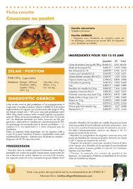 recette cuisine collective recette gemrcn couscous au poulet vici solutions
