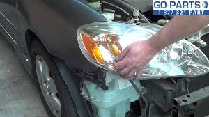 replace 2003 2008 toyota corolla headlight bulb how to change