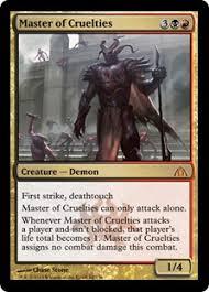 Mtg Lifelink Deathtouch Deck by Master Of Cruelties Dragon U0027s Maze Gatherer Magic The Gathering