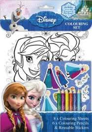 Image Is Loading Disney Frozen Colouring Set Stickers Colour Pencils Children