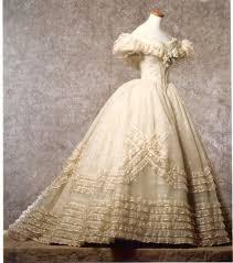 Dress Vintage Fashion 1800s Ruffle Ball Gown