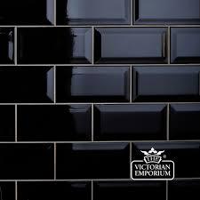 Bondera Tile Mat Uk by Wall Tiles Gloss Black Bevel Subway Tile 200x100mm Selling Per