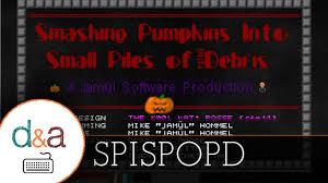 Tarantula Smashing Pumpkins by Smashing Pumpkins Into Small Piles Of Putrid Debris Halloween