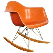 Charles And Ray Eames Orange Fiberglass Rocker, Manufactured By Herman  Miller Black 2014 Herman Miller Eames Rar Rocking Arm Chairs In Very Good Cdition White Rocking Chair Charles Ray Eames And For Vintage Brown By C Frank Landau For Sale Rope Edge Chair 1950s Midcentury Modern Rar A Pair 1948 Retro Obsessions