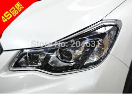 high quality abs chrome front headlight l cover 2 pcs set for