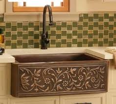 copper kitchen sinks in a variety of configurations and finishes