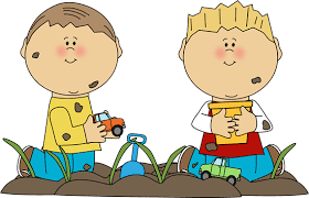 Boys Playing In Dirt