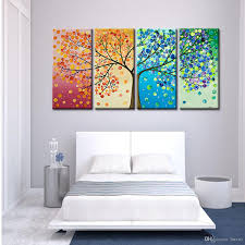 2019 Fashionable Four Seasons Colorful Tree Pattern Bedroom Living Room Sofa Background Wall Ink Painting Decorative Painting From Liuxu1 1709