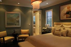 bedroom with modern furniture and accent lighting indoor accent