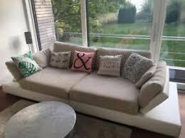 details zu xl sofa beige schlafsofa stoff und leder wohnzimmer sofa