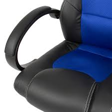 Mainstays Desk Chair Blue by Best Choice Products Executive Racing Gaming Office Chair Pu