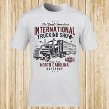 100 Funny Trucking Pictures International Show T Shirt Unisex Casual Mens Dress