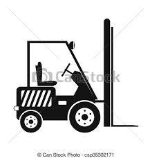 Forklift Loader Pallet Stacker Truck Stock Illustration