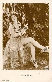 Joe Versus The Volcano Hula Lamp by Clara Bow Publicity Postcard For Hula Ukulele Ladies