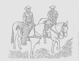 Download Coloring Pages Cowgirl And Horse Page Cowboy
