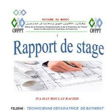 exemple de rapport de stage dessinateur bâtiment outils livres