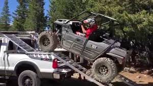 100 Utv Truck Rack Loading Our Kawasaki Teryx On Our UTV YouTube