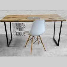 Reclaimed Wood Desk Top Office Furniture Modern Custom Modern Wood Desk With Reclaimed Wood Top In Choice Of Sizes Or
