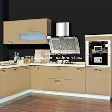 China Dark Wood Veneer And High Gloss Wooden Kitchen Cabinet With