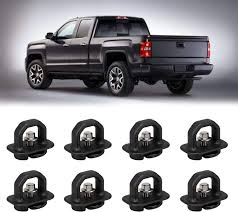 100 Truck Bed Tie Down System 8 Pcs Anchor Anchors Side Wall Hook Rings For 0718 Chevy SilveradoGMC Sierra1518 Chevy ColoradoGMC Canyon Pickup 4